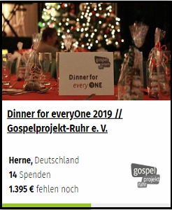 Dinner for everyOne 2019 // Gospelprojekt-Ruhr e. V.